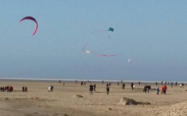 Kiten und Kitesurfen auf Borkum